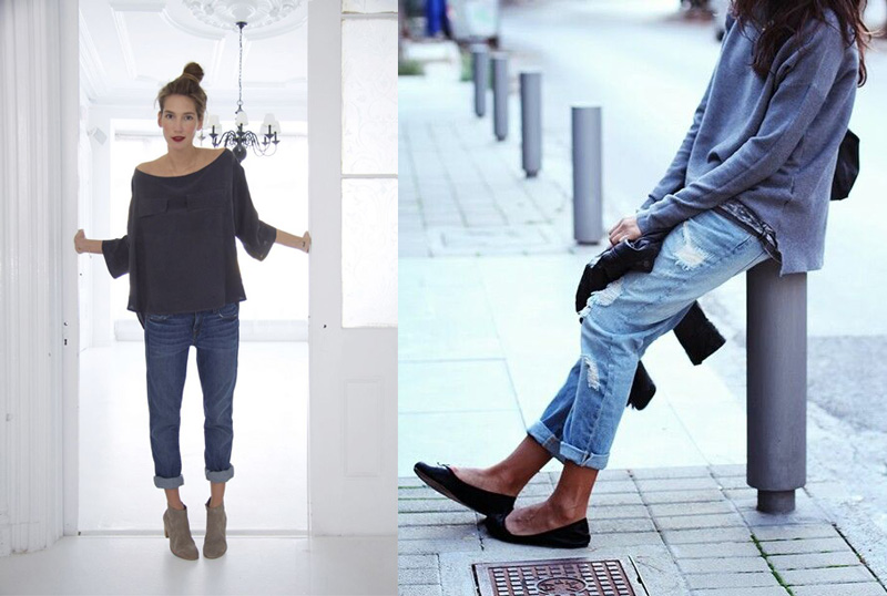 the brunette fashion: Boyfriend jeans: abbinamenti femminili