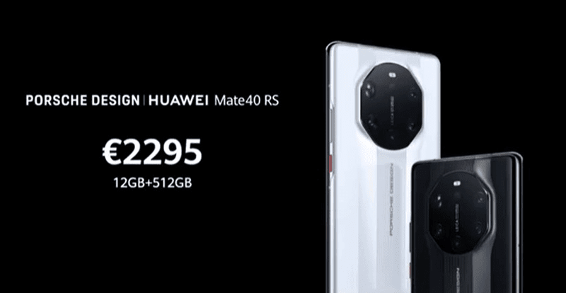 The ultra-premium Porsche Design Huawei Mate 40 RS is priced at EUR 2,299