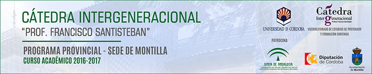 AYUNTAMIENTO DE MONTILLA - CÁTEDRA INTERGENERACIONAL UNIVERSIDAD DE CÓRDOBA