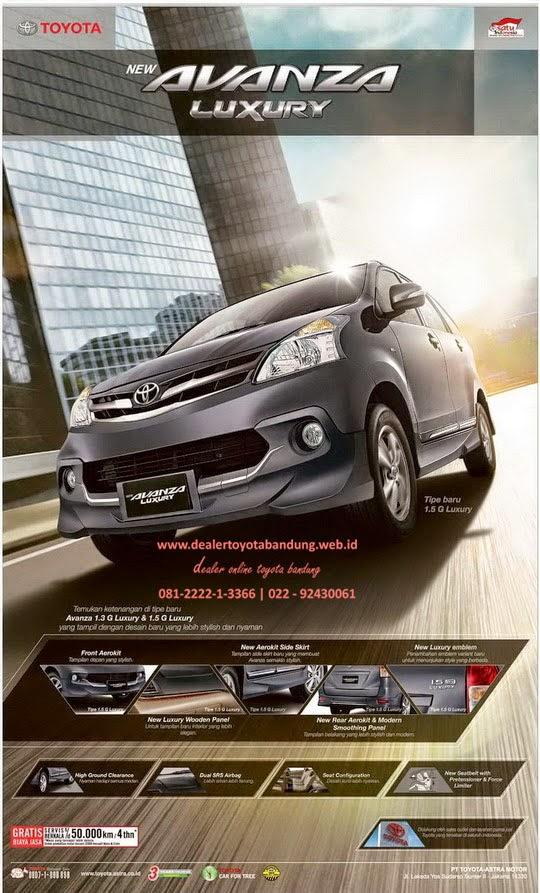 Grand New Avanza Veloz Luxury Keunggulan Dealer Toyota Info Harga Promo Dan Paket Lebaran All Bandung Subang Cimahi Rancaekek Garut Tasikmalaya 2014