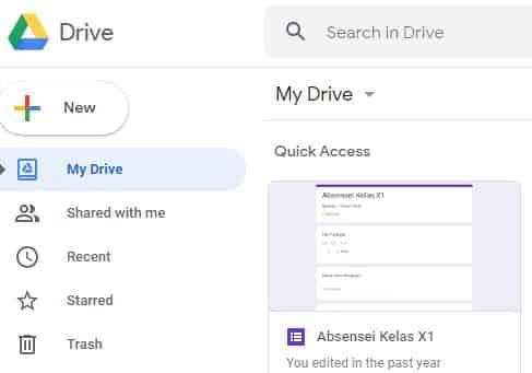 cara mengirim file lewat google drive lewat laptop
