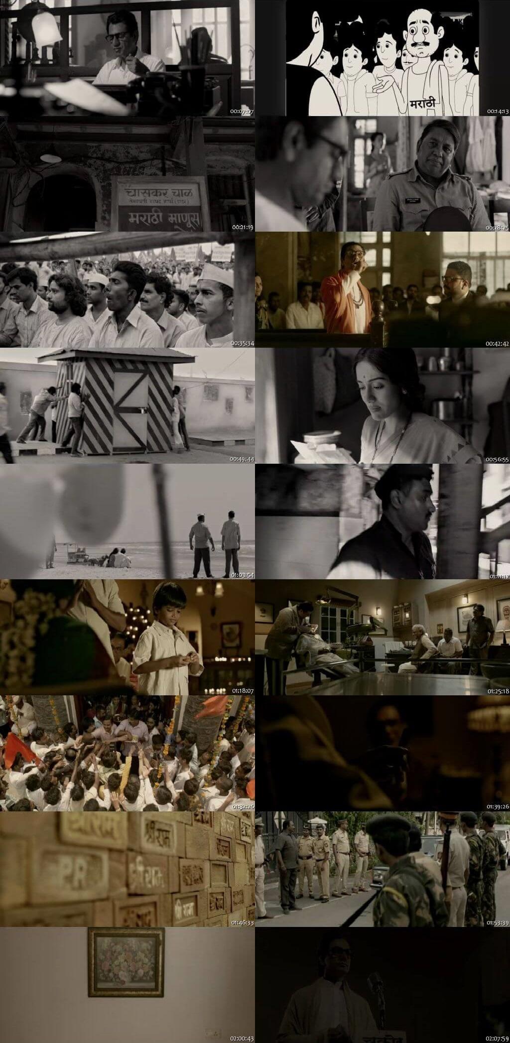 Screen Shot Of Thackeray 2019 300MB BRRip 480P Full Hindi Movie Watch Online Free Download