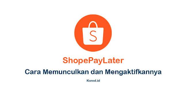 Cara Memunculkan dan Mengaktifkan ShopeePay Later Terbaru