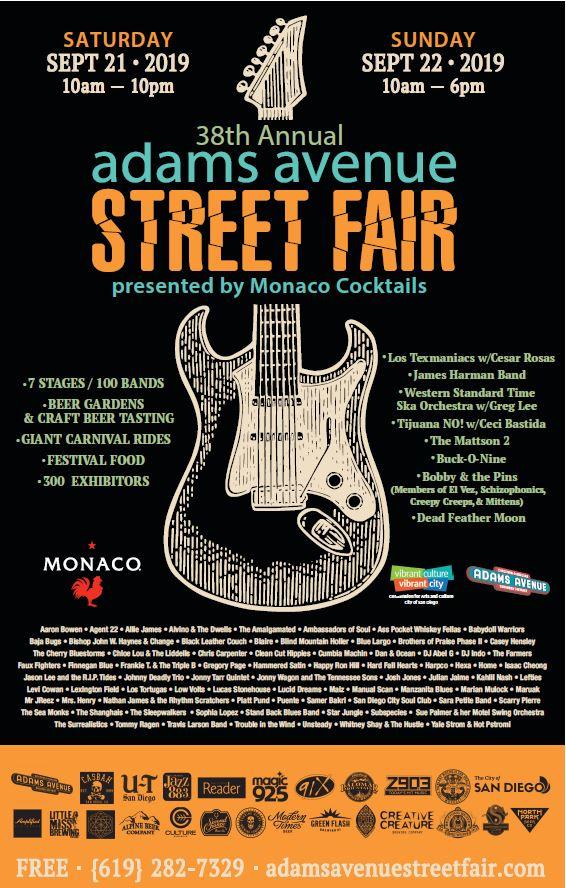 san diego: dialed in: Adams Avenue Street Fair Lineups Released