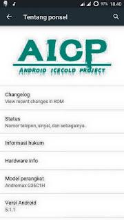 Download Custom ROM AICP V2 Untuk Andromax Q G36C1H