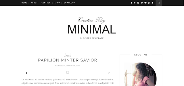 Minimal Clean Blogger Template Free Download