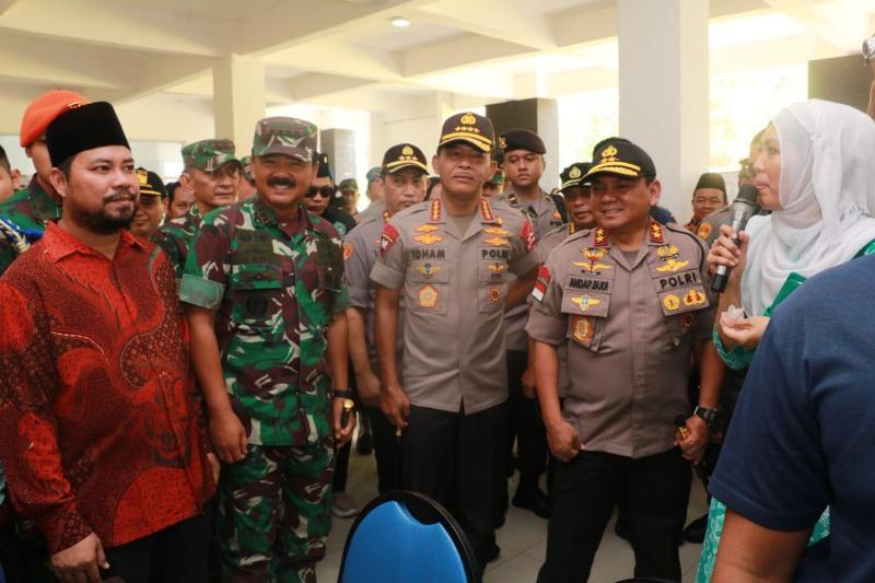 Polri dan TNI Bersatu Lakukan Kunjungan Kerja dan Siap Beri Pengamanan dalam Rangka Pembangunan RS di Pulau Galang