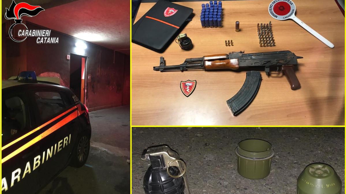 armi sequestrate a Monte Po'