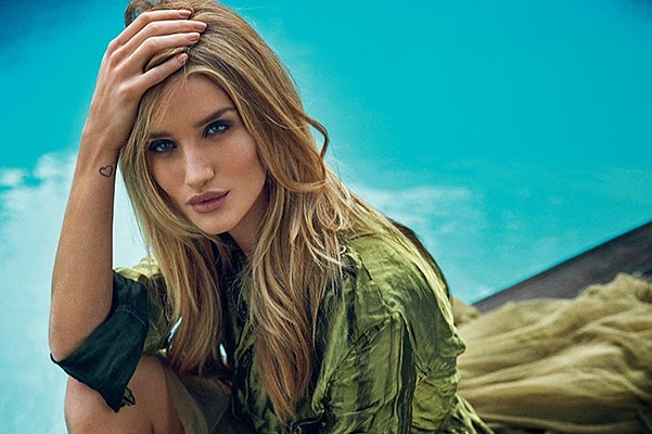Rosie Huntington-Whiteley in the pages of the British gloss