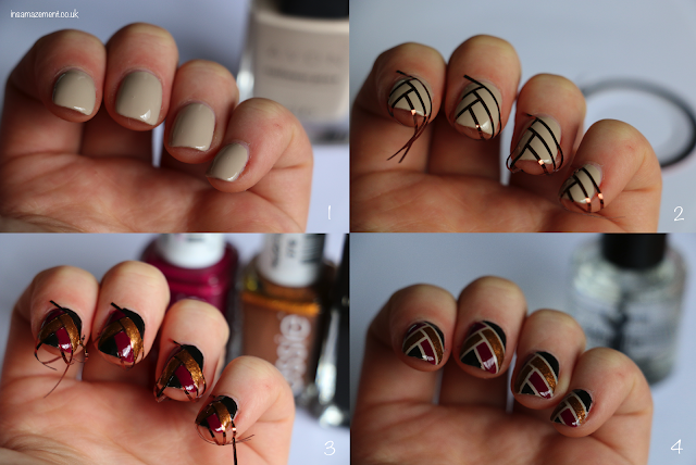 Art Deco Ribbon Nail Art Tutorial