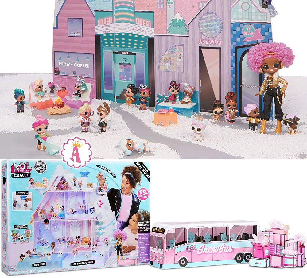 Кукольный дом шале и автобус L.O.L. Surprise Winter Disco Chalet Dollhouse
