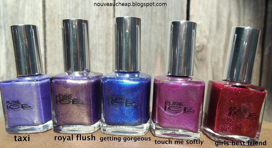 New Pure Ice Nail Polish Shades Swatches Nouveau Cheap