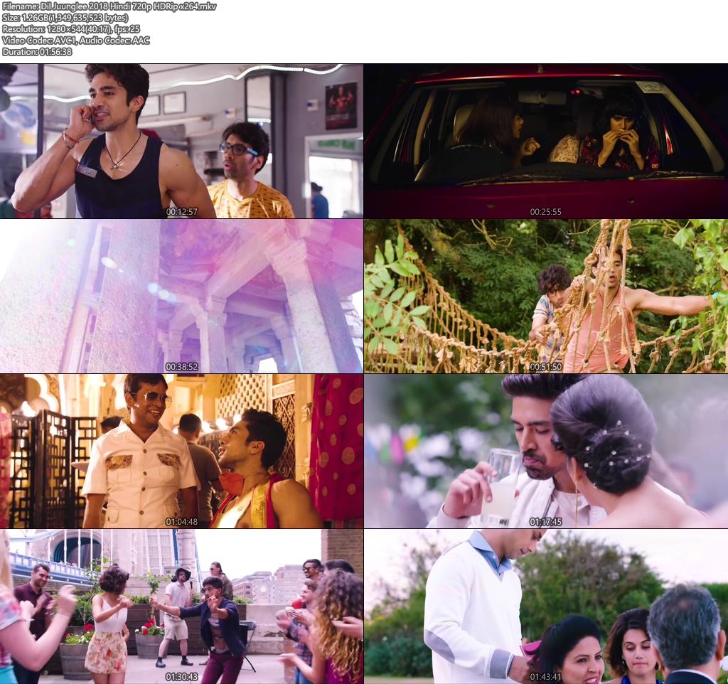 Dil Juunglee 2018 Hindi 720p HDRip x264 | 408p 300MB | 100MB HEVC Screenshot