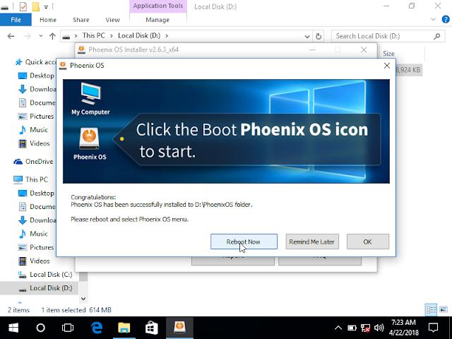 Phoenix OS - Congratulations