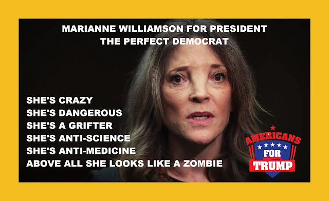 Memes: MARIANNE WILLIAMSON FOR PRESIDENT THE PERFECT DEMOCRAT