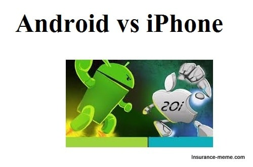 Android vs iPhone war