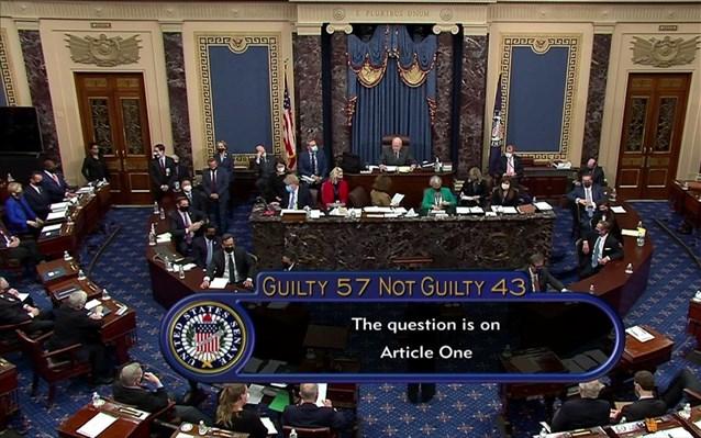 Γερουσία: Αθώος ο Τραμπ
