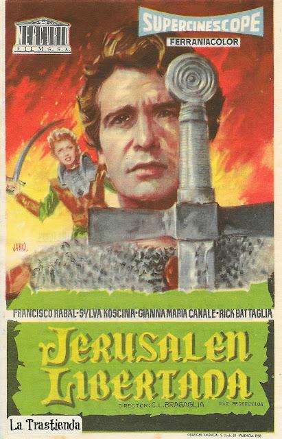 Programa de Cine - Jerusalen Libertada - Francisco Rabal - Sylva Koscina