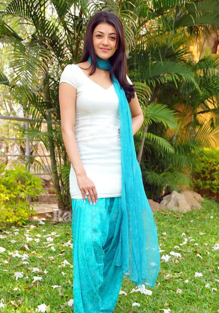 kajal Agarwal Photos In White Punjabi Dress