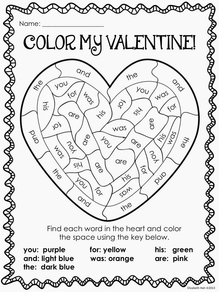 Classroom freebies too color my valentine for Be my valentine coloring pages