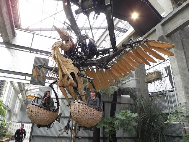 Cegonha levantando voo - Les Machines de l'île - Nantes- França