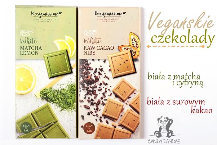 Wegańska biała czekolada z ziarnami kakaowca / z matchą i cytryną - Benjamissimo