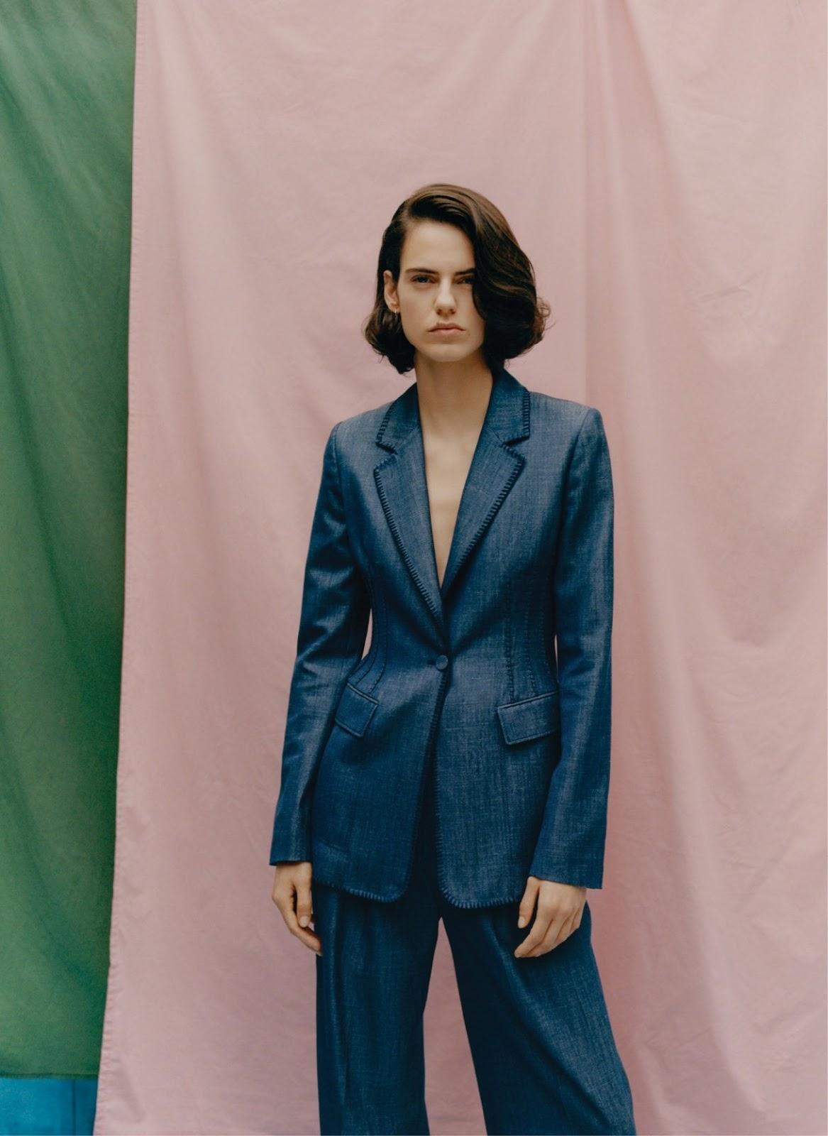 Miriam Sanchez in Gabriela Hearst blazer and pants