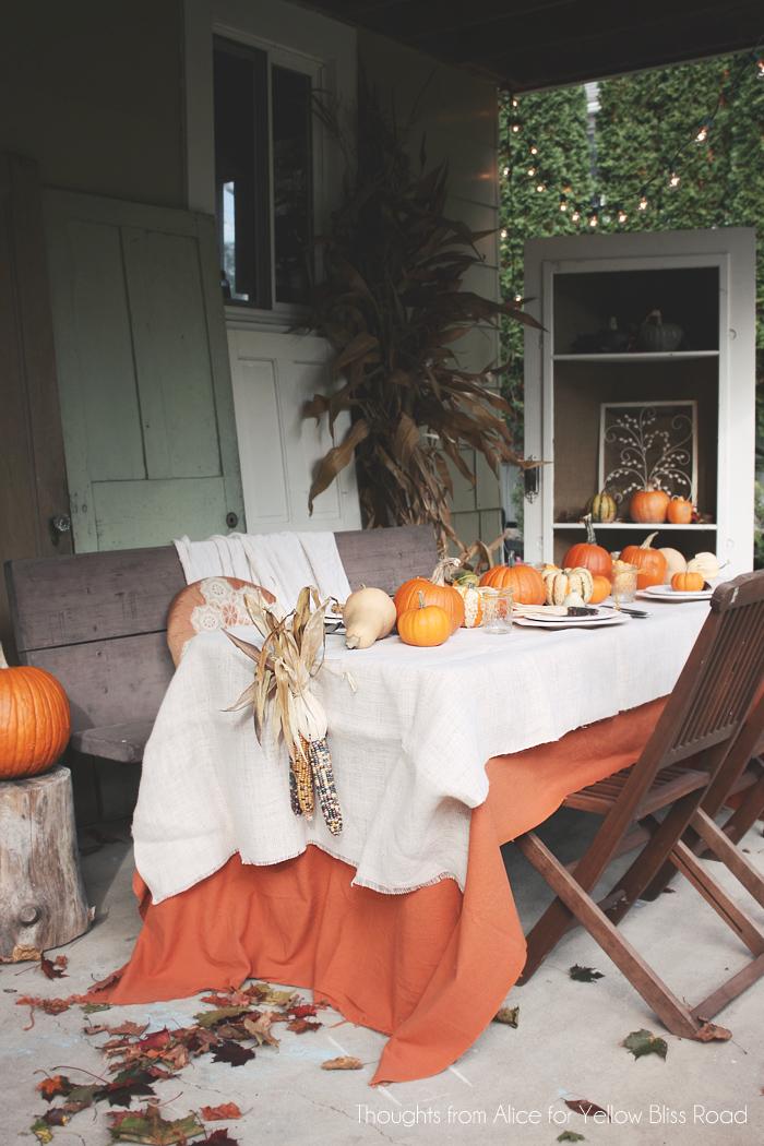 Outdoor Thanksgiving Table Ideas Fall Back Patio Tour