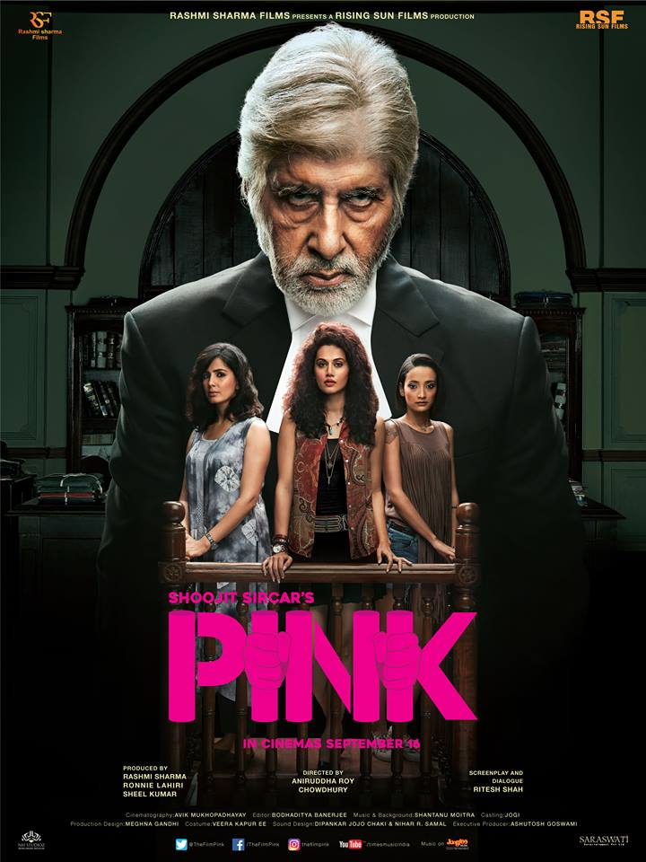full cast and crew of bollywood movie Pink 2016 wiki, Amitabh Bachchan, Taapsee Pannu and Kirti Kulhari story, budget, release date, Actress name poster, trailer, Photos, Wallapper, Pink hit or flop