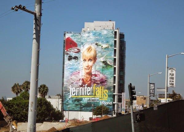 Giant Jennifer Falls series premiere billboard
