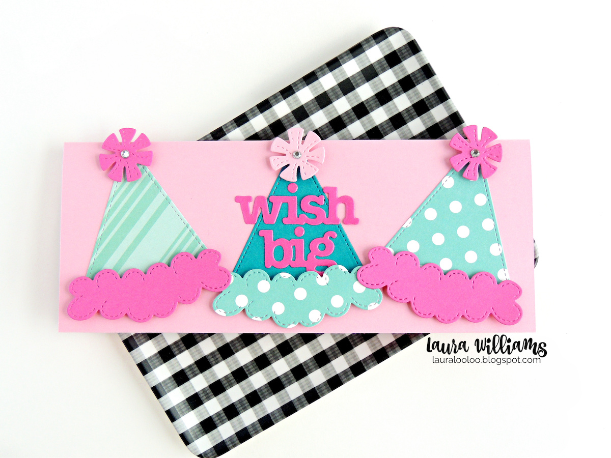 Looking for slimline birthday card ideas? Check this one out! Use the party hat die along with number and birthday word dies from Impression Obsession to make festive and fun handmade birthday cards, party crafts and more. Customize them with any colors or prints of paper for limitless possibilities. Stop by my blog to see more ideas with these great paper crafting supplies from Impression Obsession.