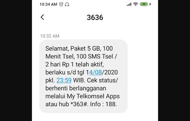 Telkomsel Beri Paket Spesial Murah 5 GB Cuma Rp 1 Sampai 19 Agustus 2020