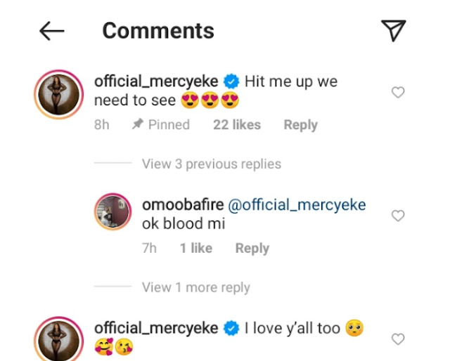 Mercy Eke reacts to a Fan who Tattooed her face on his arms (Photos)