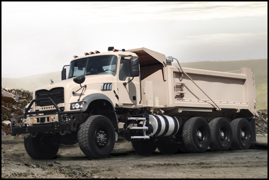 Mack Defense recently began production of five Mack® Granite®-based M917A3 Heavy Dump Trucks (HDT) as part of the Production Vehicle Testing (PVT) phase of its $296 million contract with the U.S. Army for armored and armor-capable HDTs.
