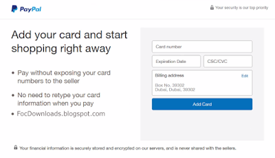 ByPass Add Card this option.