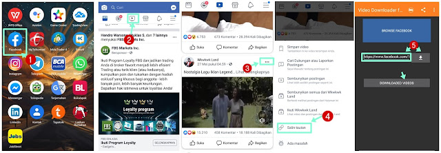 cara menyimpan video facebook di hp