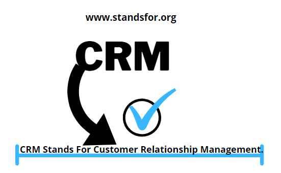 CRM-CRM stands for Customer Relationship management.