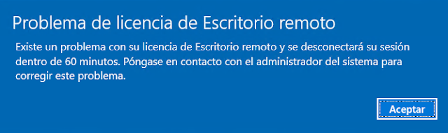 Windows: Escritorio remoto se desconecta en 60 minutos