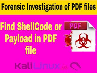 peepdf kali linux digital forensic of PDF files