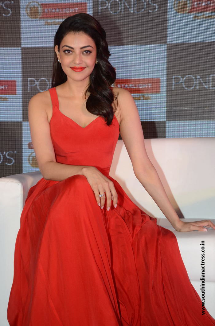 Kajal Aggarwal At Ponds Starlight Launch - South Indian -8404