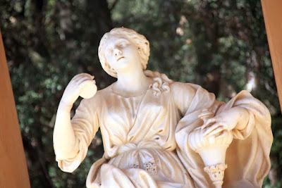 Escultura de Danae en el Parc del Laberint