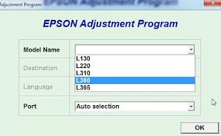 Cara Reset Epson L360 100% work