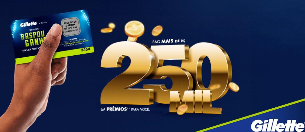 Promoção Raspou Ganhou Gillette 2021