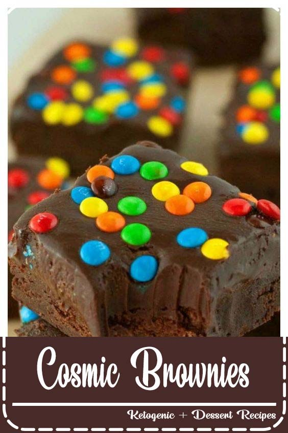 fudgy brownies smothered in silky smooth chocolate ganache Cosmic Brownies
