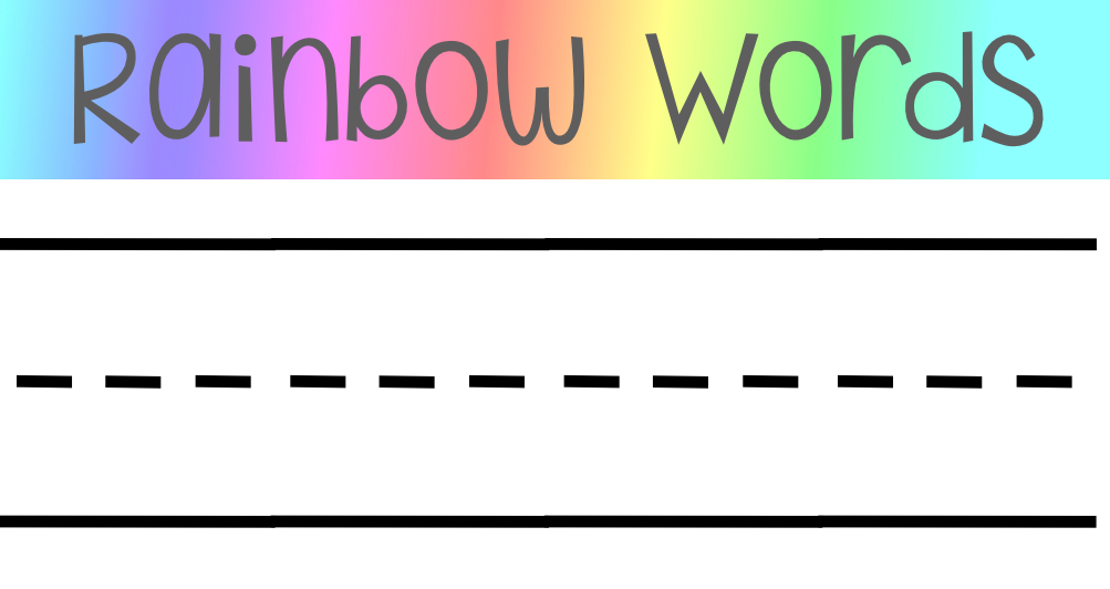 digital meanderings rainbow words the seesaw way