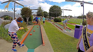 Matt Bellner playing the Putt Putt course in Lake Charles, LA, USA