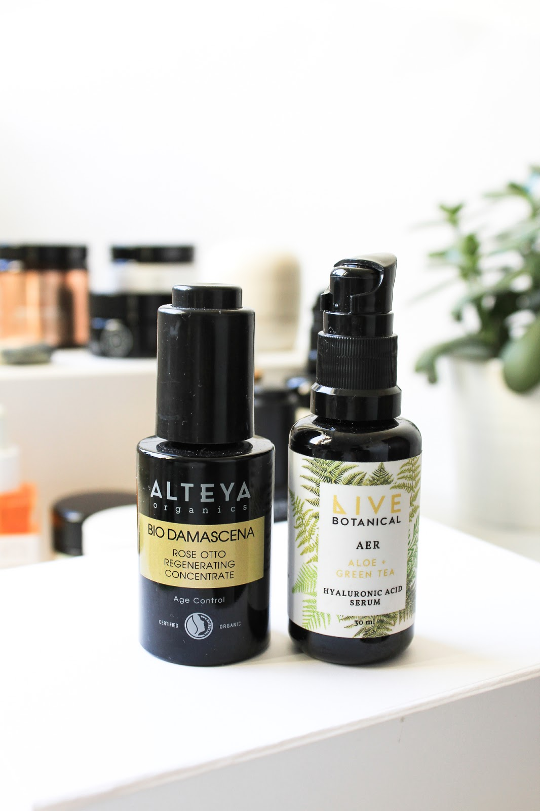 Alteya Organics Rose Otto Regenerating Concentrate Love Lula, Live Botanical AER Hyaluronic Acid Serum