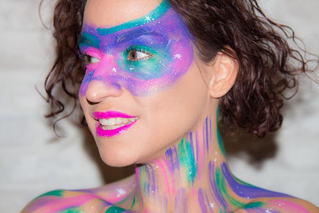 maquillage - galaxie - artistique