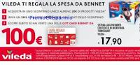 Logo Vileda ti regala la spesa da Bennet: vinci carte regalo da 100€