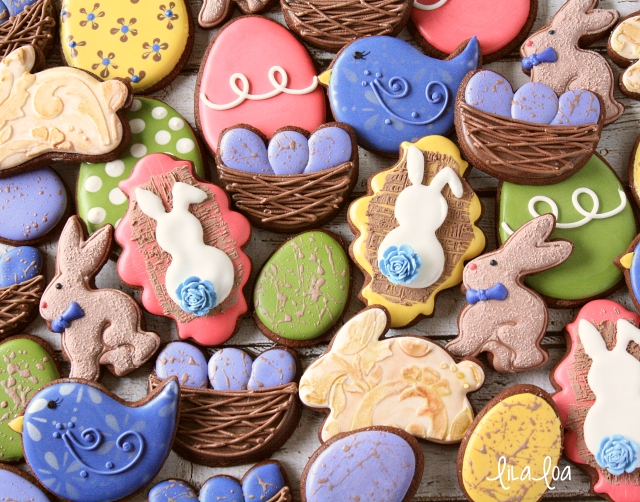 How To Make Decorated Burlap Bunny Cookies For Easter ~ tutorial